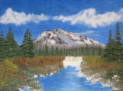 Painting - Rocky Mountain Creek by Tim Townsend