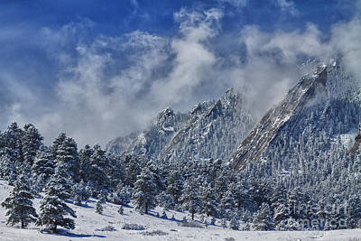 Photograph - Rocky Mountain Dusting Of Snow Boulder Colorado by James BO  Insogna