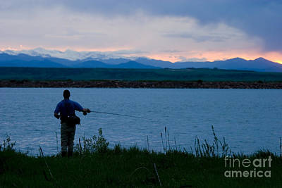 Steven Krull Royalty-Free and Rights-Managed Images - Rocky Mountain Fisherman by Steven Krull