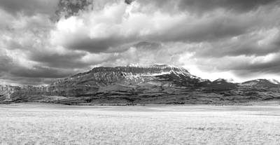 Photograph - Rocky Mountain Front In Black And White by Fran Riley
