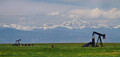 Photograph - Rocky Mountain Front Range Oil Panorama by James BO  Insogna