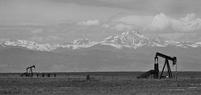 Photograph - Rocky Mountain Front Range Oil Panorama Bw by James BO  Insogna