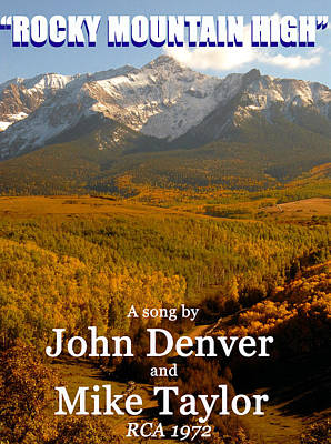 John Denver Photograph - Rocky Mountain High 1972 by David Lee Thompson