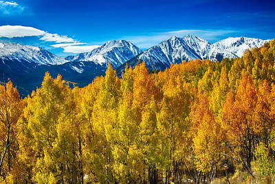 Corporate Art Photograph - Rocky Mountain High Autumn View by James BO  Insogna