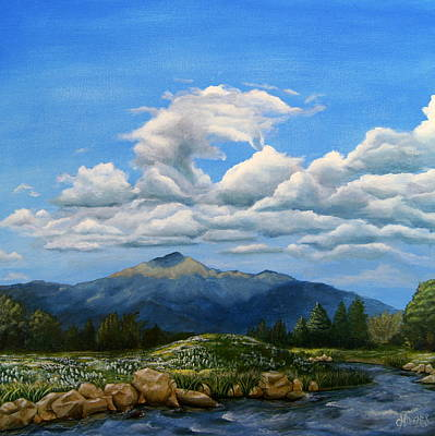 Pike River Painting - Rocky Mountain High by Christine Deemer