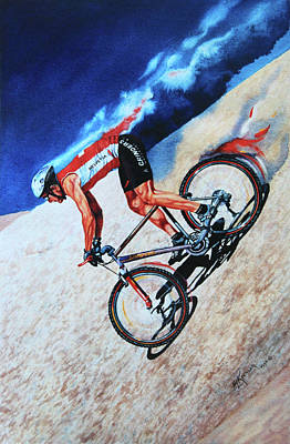 Action Sports Art Painting - Rocky Mountain High by Hanne Lore Koehler