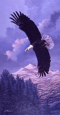 American Eagle Painting - Rocky Mountain High by Richard De Wolfe