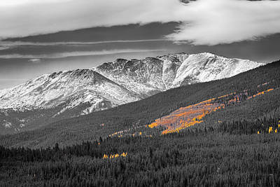 Beautiful Photograph - Rocky Mountain Independence Black And White Selective by James BO  Insogna
