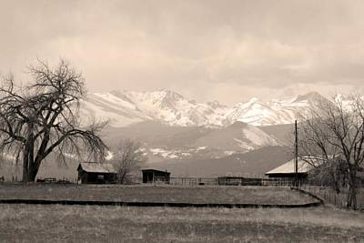Photograph - Rocky Mountain Lafayette Sepia Views by James BO Insogna