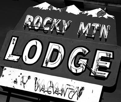 Photograph - Rocky Mountain Lodge by Daniel Woodrum