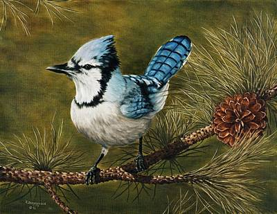Blue Jay Painting - Rocky Mountain Morning by Rick Bainbridge
