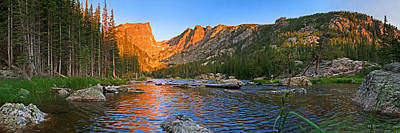 Photograph - Rocky Mountain National Park Dream Lake Panoramic by Posters of Colorado