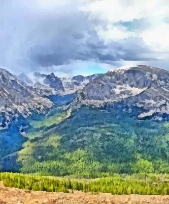 Rocky Mountain National Park Painting Art Print