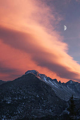 Photograph - Rocky Mountain National Park Sunset Over Longs by Aaron Spong