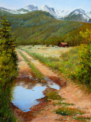 Painting - Rocky Mountain Reflections by Mary Giacomini