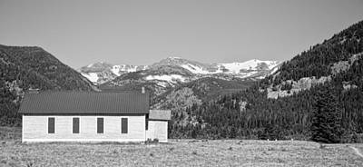 Old School Houses Photograph - Rocky Mountain School House Panorama by James BO  Insogna