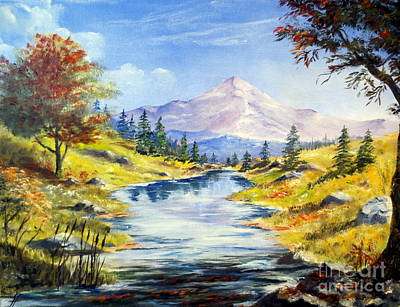 Painting - Rocky Mountain Stream by Lee Piper