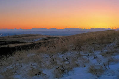 Sage Painting - Rocky Mountain Sunset by Terry Reynoldson