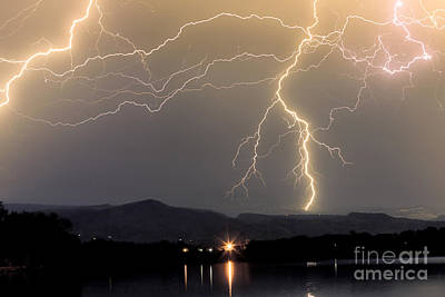 Images Lightning Photograph - Rocky Mountain Thunderstorm  by James BO  Insogna