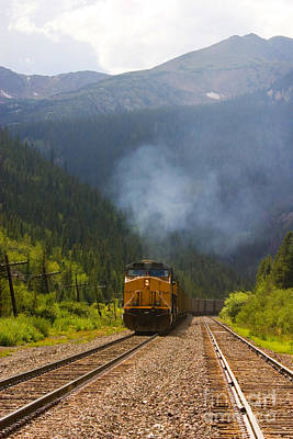 Steven Krull Royalty-Free and Rights-Managed Images - Rocky Mountain Train by Steven Krull