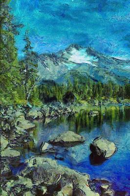 Manipulation Photograph - Rocky Mountain Views by Mario Carini