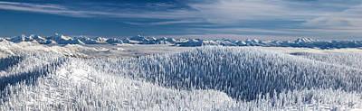 Rocky Mountain Winter Art Print by Aaron Aldrich