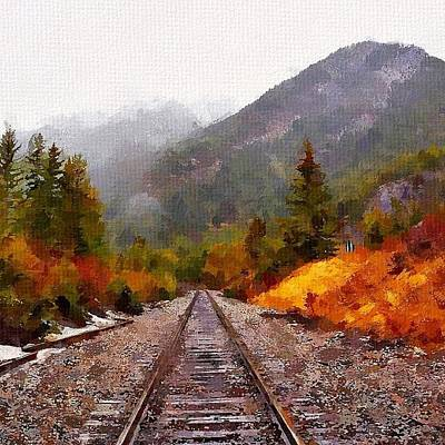 Train Tracks Painting - Rocky Mountaineer by Chris Butler