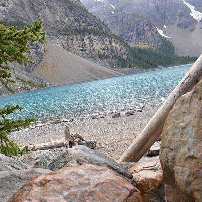 Photograph - Moraine Lake Water  1.2 by Cheryl Miller