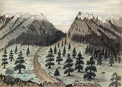 Dirt Roads Drawing - Rocky Mountains, 1859 by Granger