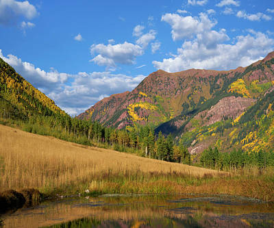 Rocky Mountains And White River Art Print