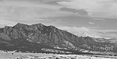 Photograph - Rocky Mountains Flatirons And Longs Peak Panorama  2 by James BO Insogna