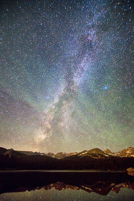 Rocky Mountains Indian Peaks Milky Way Rising Art Print