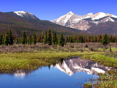 Photograph - Rocky Mountains Peaks by Olivier Le Queinec