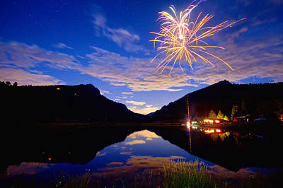 Photograph - Rocky Mountains Private Fireworks Show by James BO  Insogna