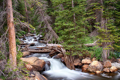 Photograph - Rocky Mountains Stream Scenic Landscape  by James BO Insogna