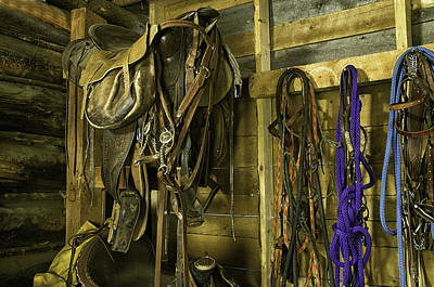 Rocky Mt Tack Room Art Print