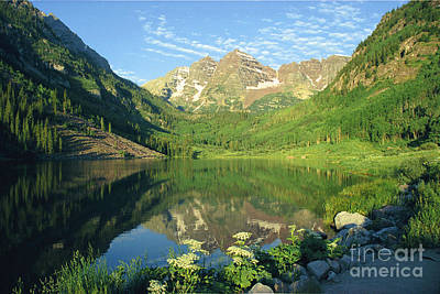 Rocky Mtn Lake Sunrise Art Print by Teri Brown