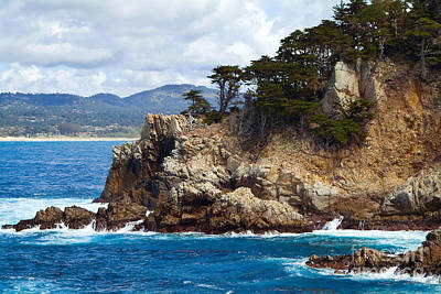 Photograph - Rocky Outcropping At Point Lobos by Charlene Mitchell