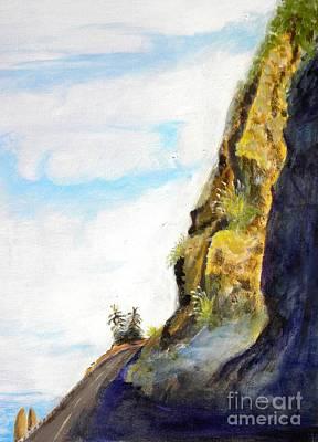 Rocky Point At Big Sur Ca Art Print by Susan Lee Clark