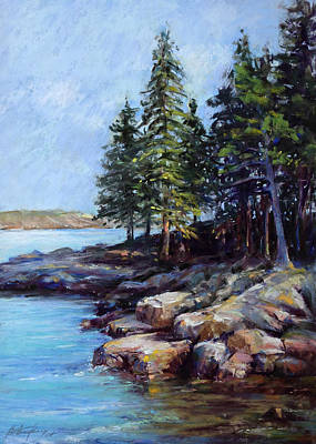 Pastel - Rocky Point by Beverly Amundson