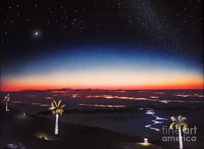 Sea Of Cortez Painting - Rocky Point Dusk by Jerry Bokowski