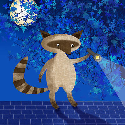 Raccoon Digital Art - Rocky Raccoon  by Valerie Drake Lesiak