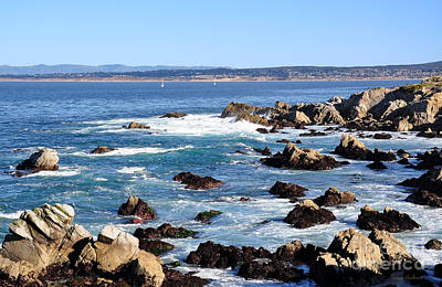 Photograph - Rocky Remains At Monterey Bay by Susan Wiedmann