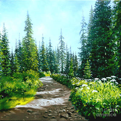 Gravel Road Painting - Rocky Road by Linda Hunt