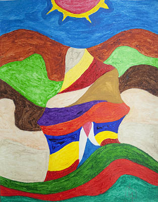 Abstract Shapes Painting - Rocky Road by Stormm Bradshaw