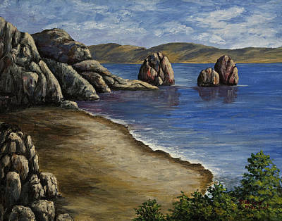 Rocky Shore Original by Darice Machel McGuire
