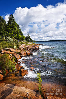 Photograph - Rocky Shore In Georgian Bay by Elena Elisseeva