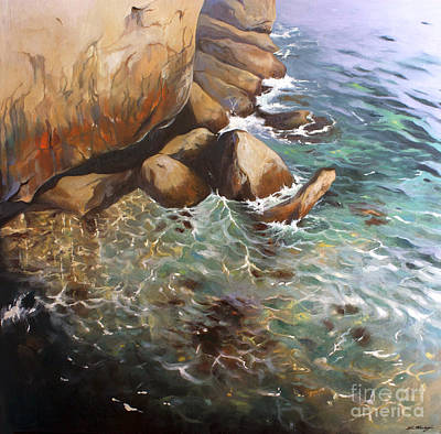 Painting - Rocky Shore by Lin Petershagen