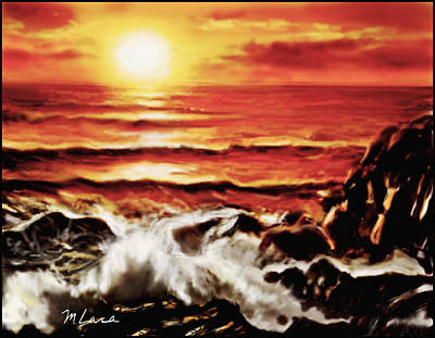 Rocky Shore Art Print by Marcos Lara