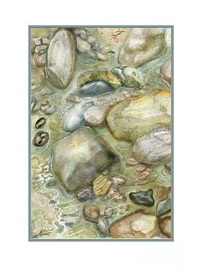 Painting - Rocky Shore Note Card by Joan A Hamilton